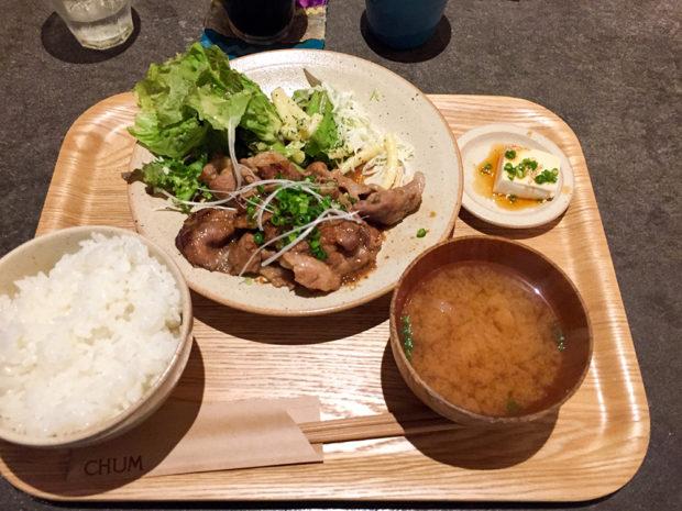 チャムアパートメント 生姜焼き