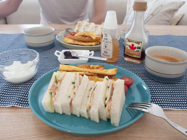 サンドイッチ 朝ご飯