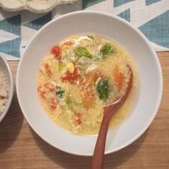 トマト かき玉スープ