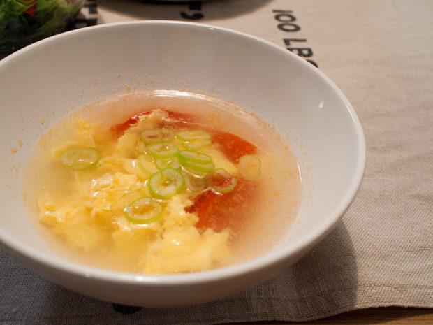 トマト たまご 中華スープ