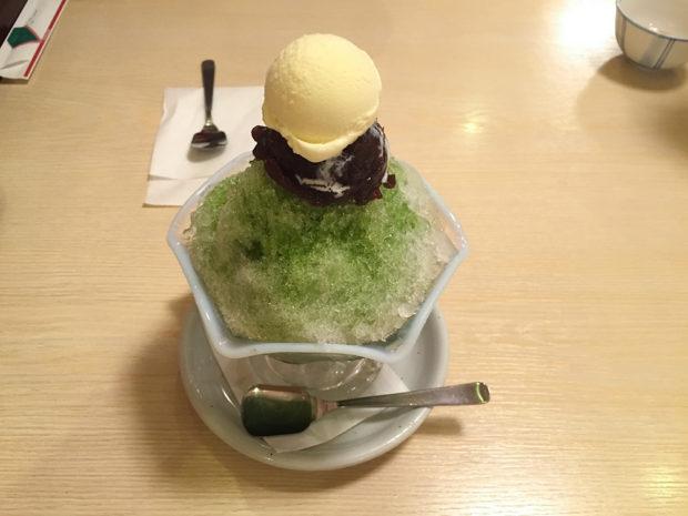 抹茶 かき氷