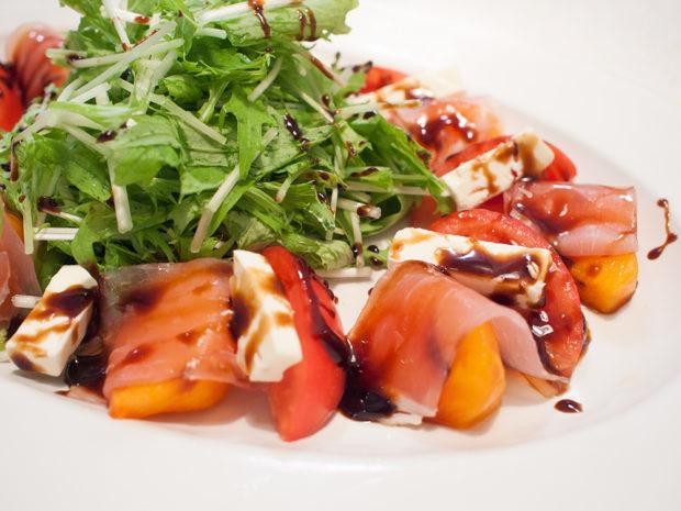 柿 トマト バルサミコ サラダ