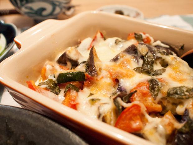 茄子とトマト チーズ焼き