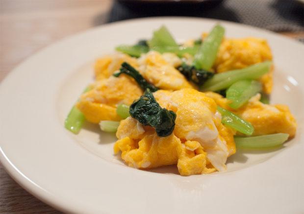 卵と小松菜 レシピ