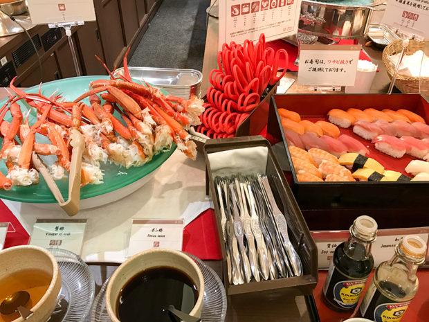 ブッフェ 寿司 カニ