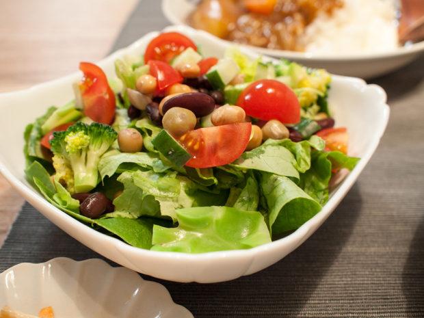 サラダ 豆