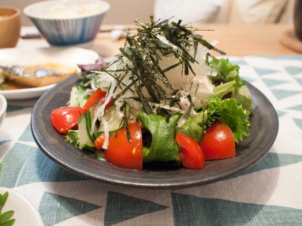 豆腐 海苔 和風サラダ