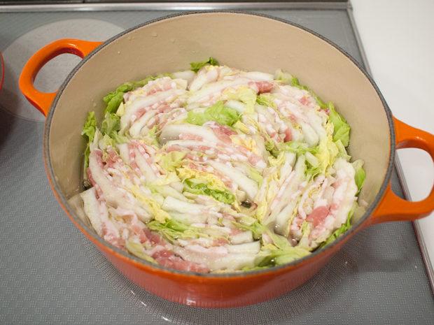 豚肉 白菜 ミルフィーユ鍋