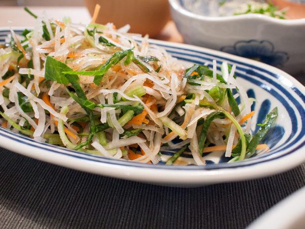 小松菜 生 サラダ