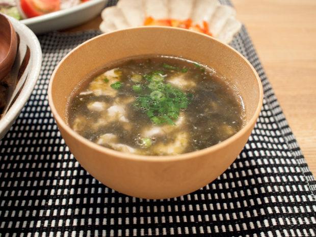 海苔と豆腐 中華スープ