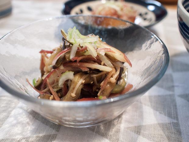 茄子と茗荷の中華風サラダ