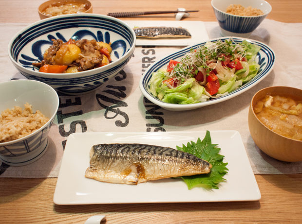 焼き魚の日 晩ごはん