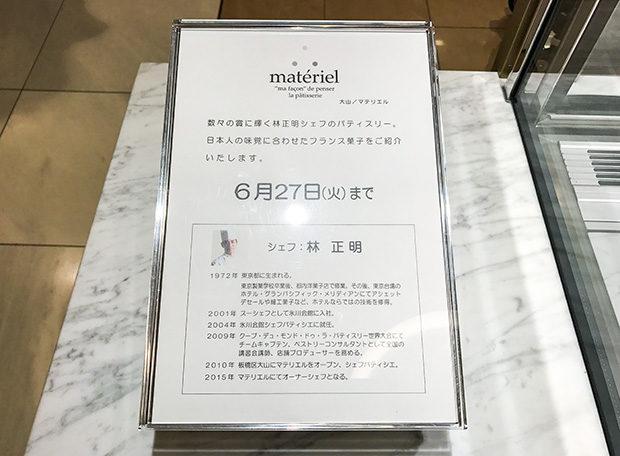 マテリエル紹介パネル