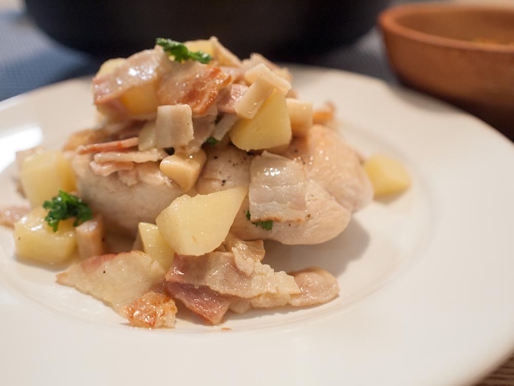鶏胸肉のシンプル煮込み