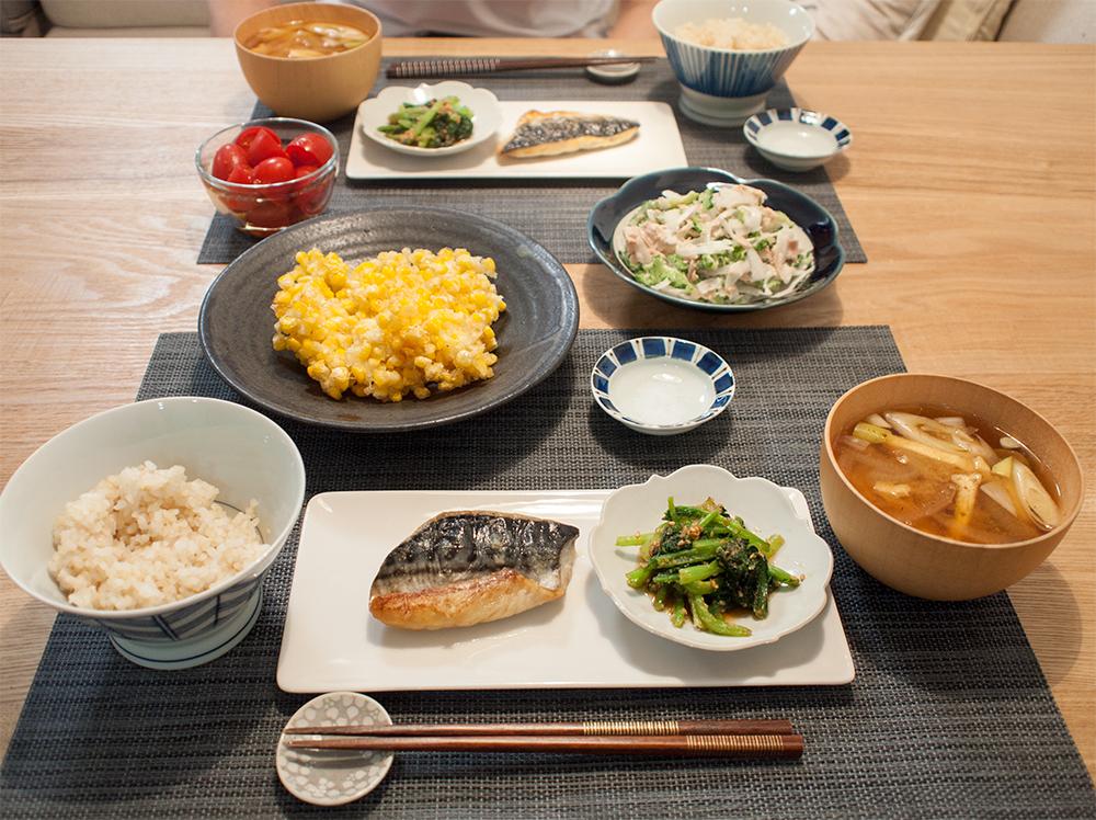 魚料理の食卓