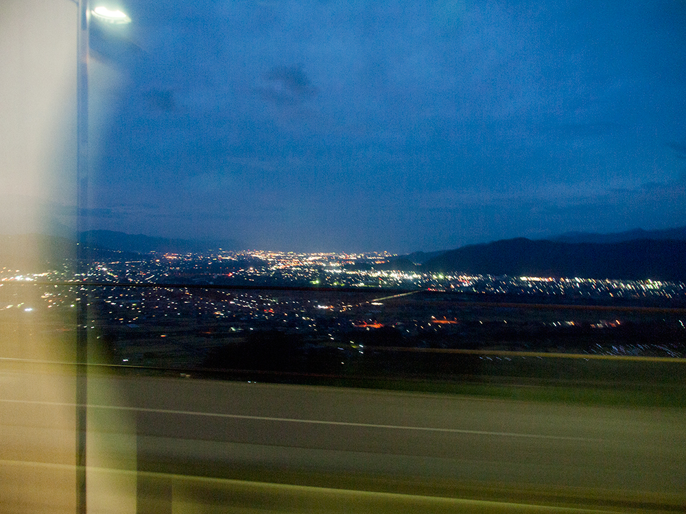 日本三大車窓 姥捨の夜景