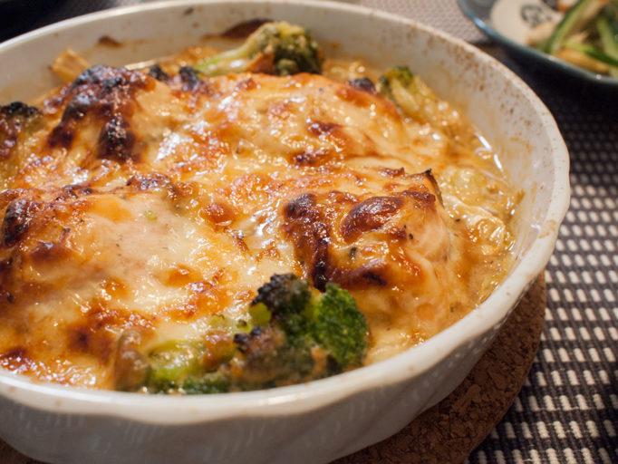 キャベツと鮭の味噌チーズ焼き