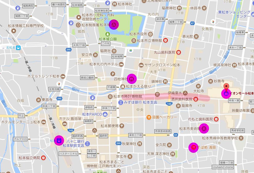 松本の観光スポット