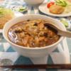カレー蕎麦の晩ご飯
