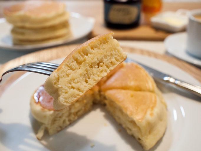 マヨネーズ入りホットケーキ