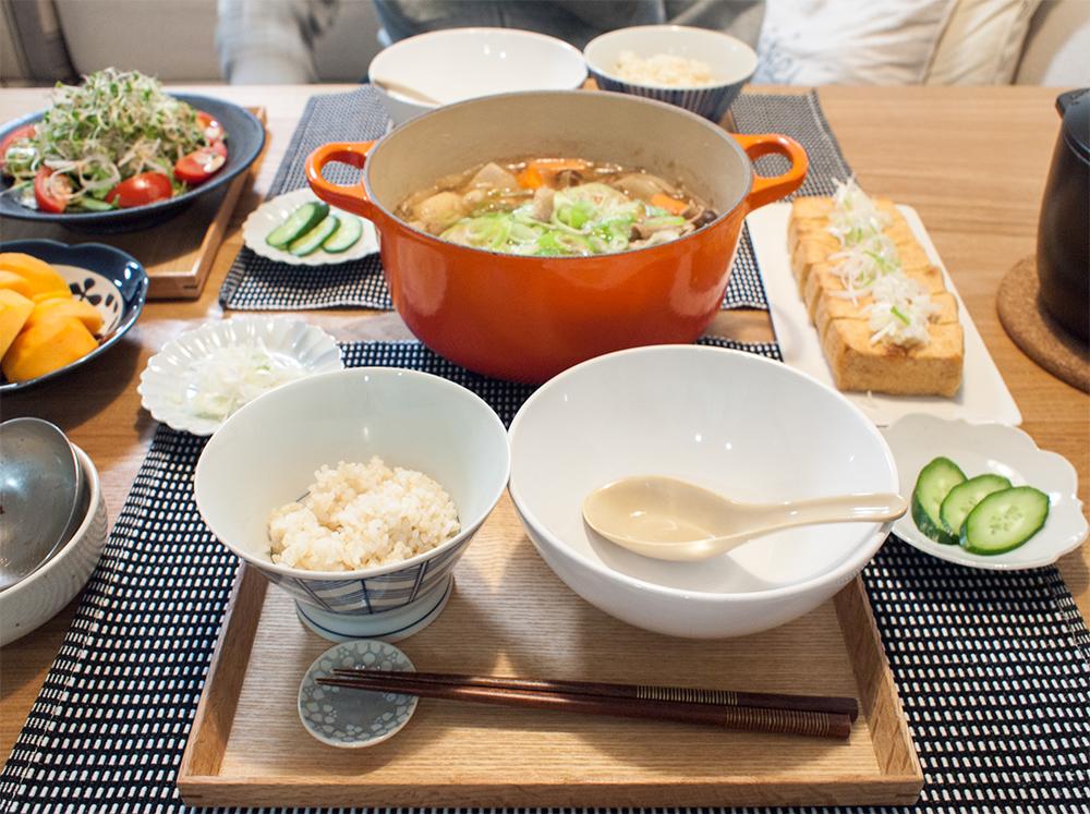 芋煮で晩ごはん