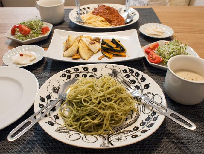 パスタと野菜のグリル