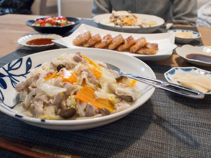 中華丼の大根餅で晩ごはん