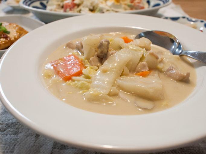 カブと白菜の和風クリーム煮