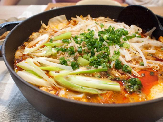 無印の坦々鍋のつゆで作った鍋料理