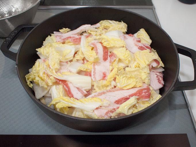 鍋料理の工程