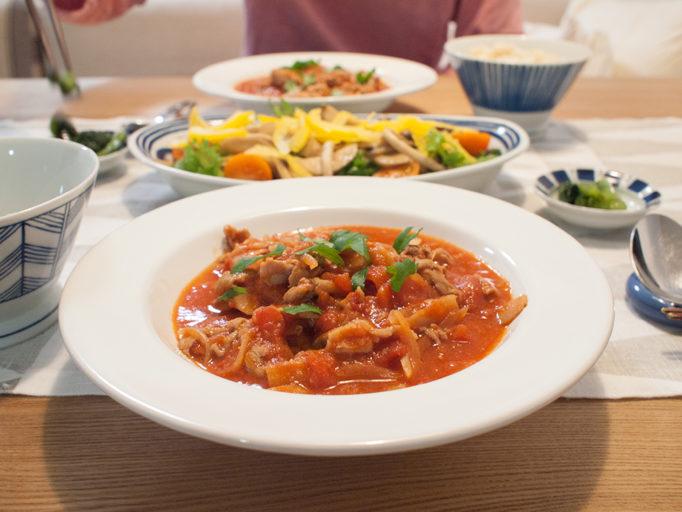 キットオイシックスのトマト煮