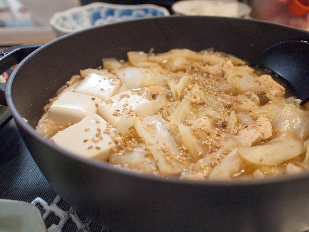 鍋風味噌汁