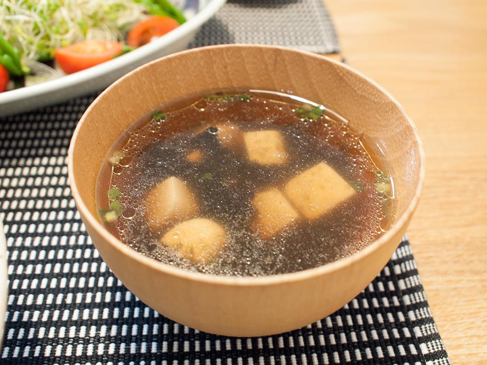 海苔と豆腐の韓国風スープ