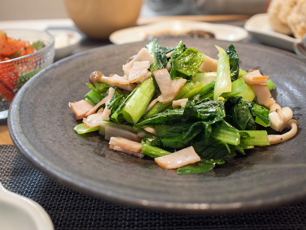 ちぢみ小松菜レシピ