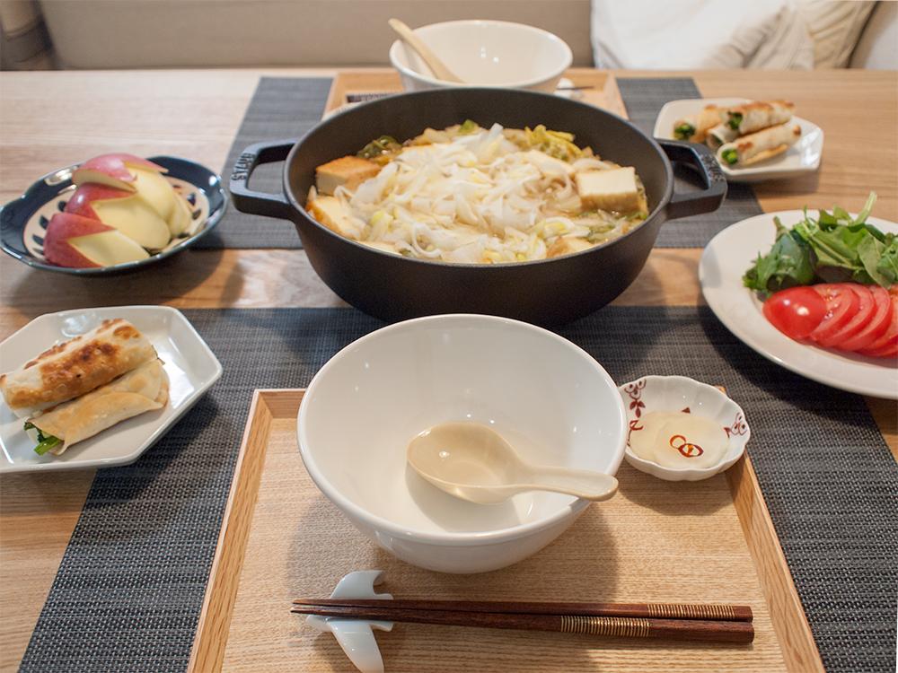 お鍋がメインの夕食