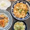 堅豆腐と麻婆豆腐と鮭のちゃんちゃん焼き