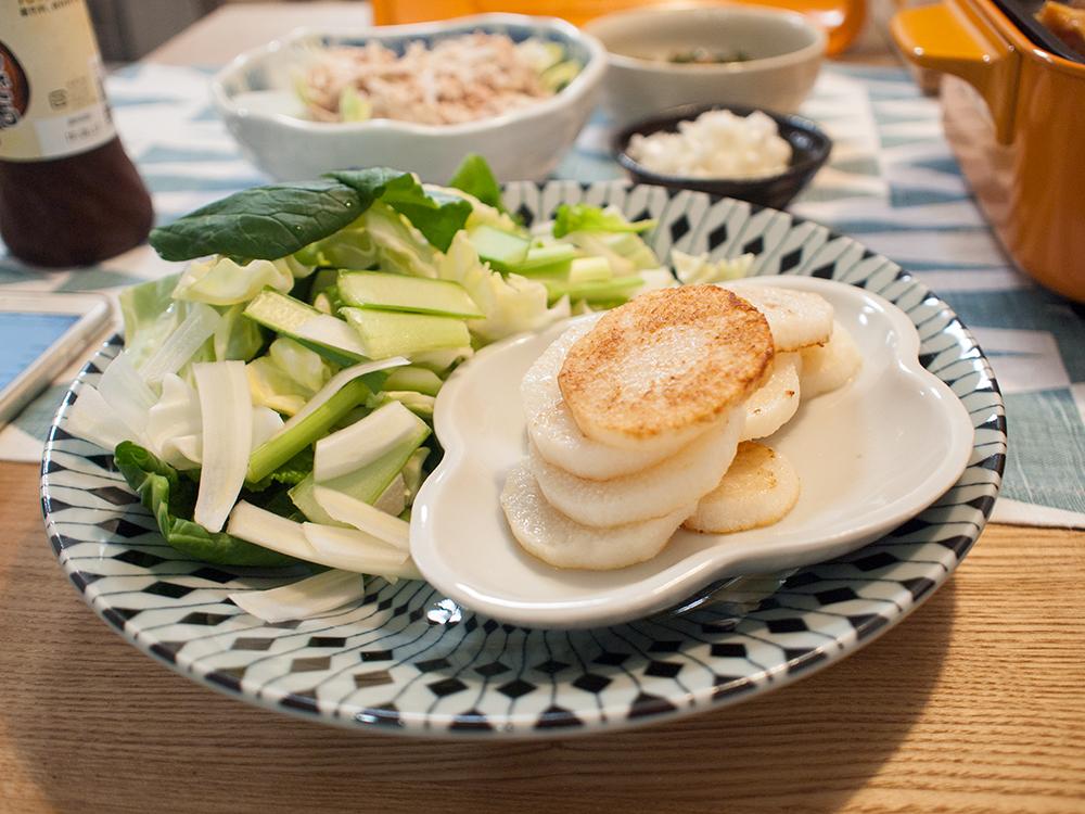 山芋と小松菜