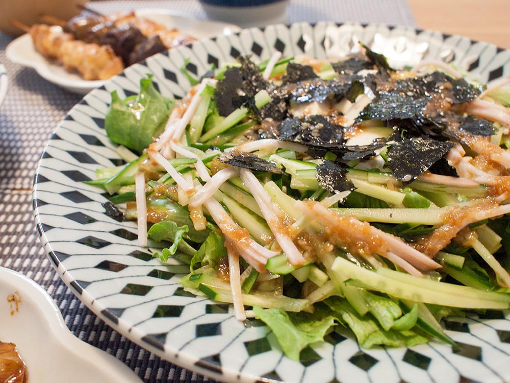 豆腐と胡瓜の和風サラダ