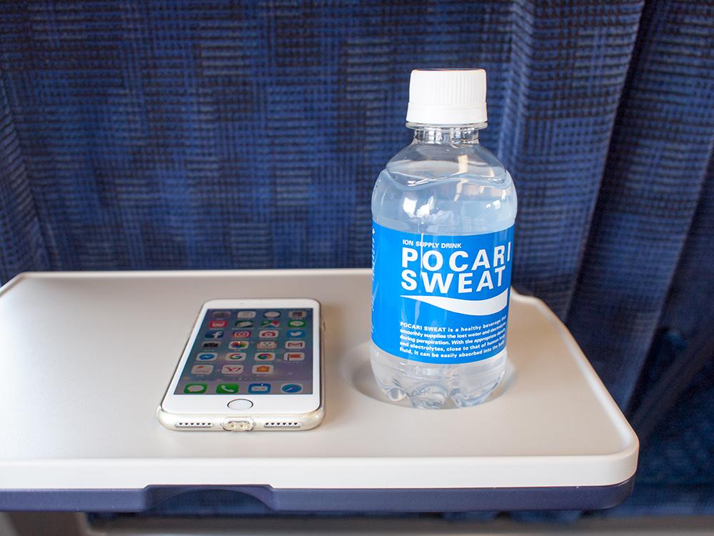 新幹線の中で撮った写真
