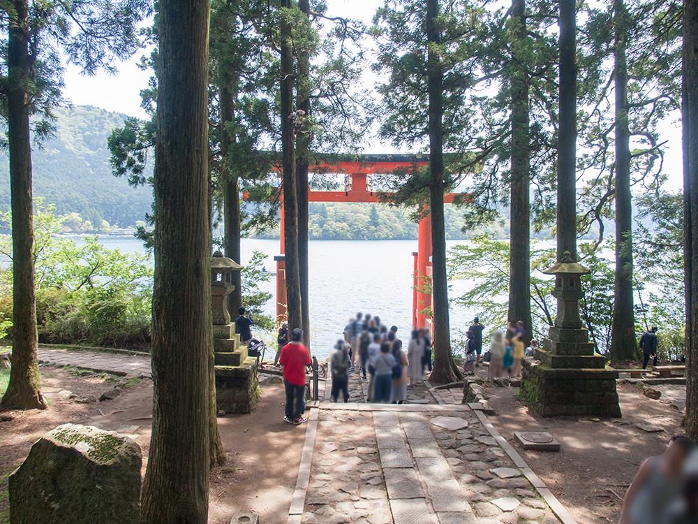 箱根芦ノ湖の鳥居
