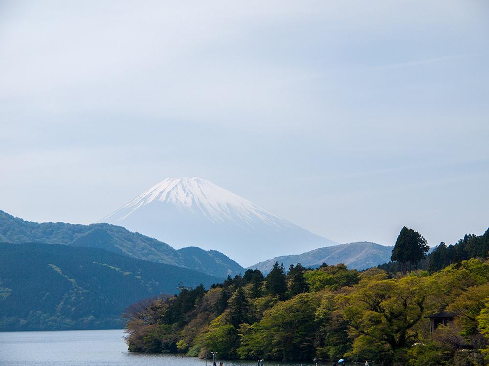 芦ノ湖遊覧船から見える富士山