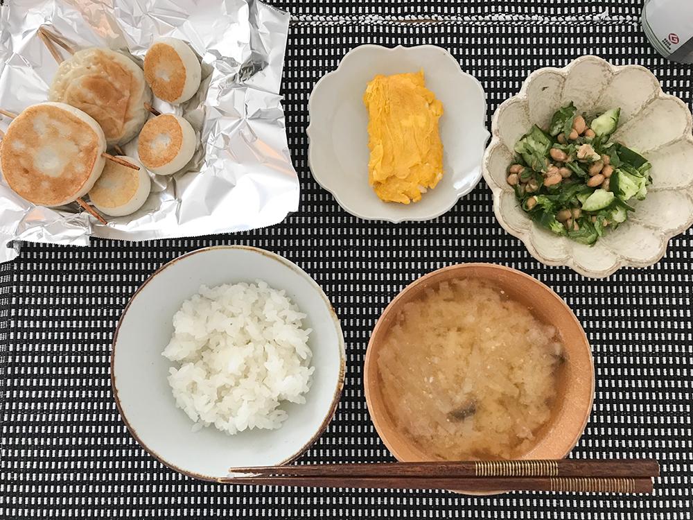 低脂質な昼ごはん かまぼこや納豆