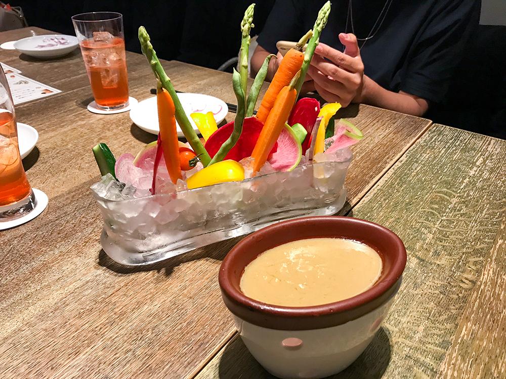 野菜やめいのバーニャカウダ