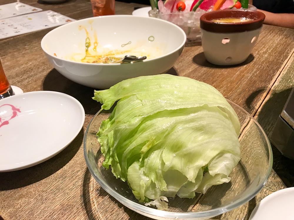 納豆のレタス包み