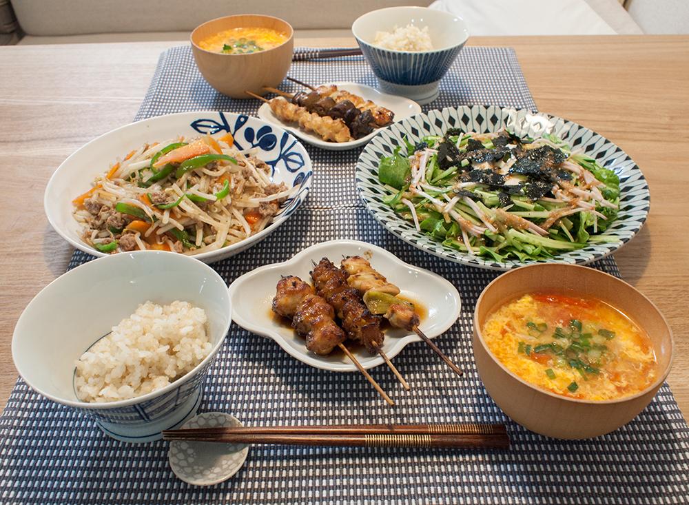 晩ご飯の写真