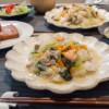 中華丼がメインの食卓