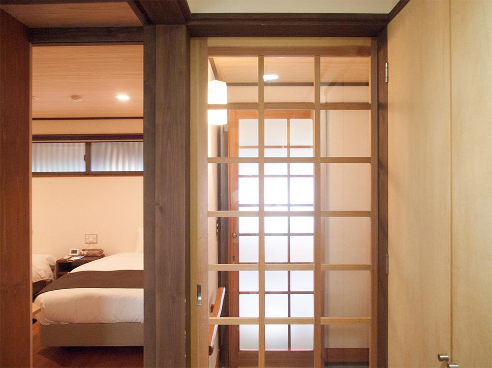 尚文の離れ 露天風呂付き客室の廊下