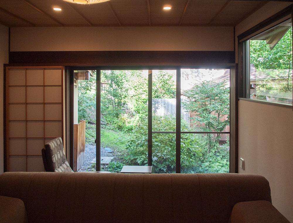 尚文の離れ 露天風呂付き客室の窓からの眺め