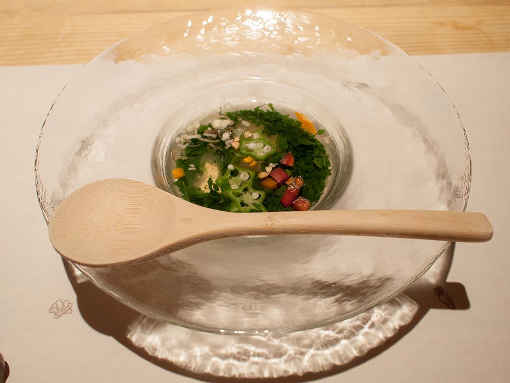尚文の夕食 野菜のスープ