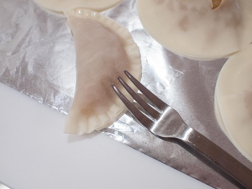 餃子の皮で作るアップルパイ